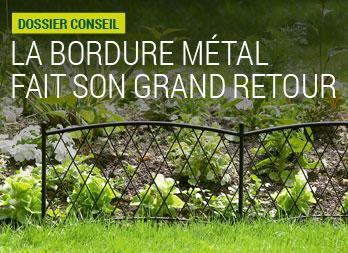 La bordure m tal fait son grand retour for Bordure metal pour jardin