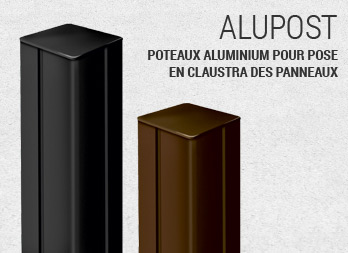 alupost poteaux pour panneaux nortene. Black Bedroom Furniture Sets. Home Design Ideas