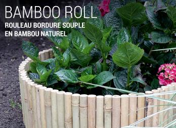 Bamboo roll rouleau bordure souple en bambou naturel for Sol en bambou en rouleau