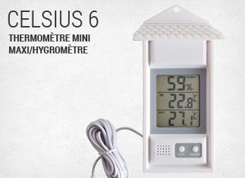 Celsius 4 thermom tre mini maxi avec ventouse nortene - Thermometre interieur precis ...