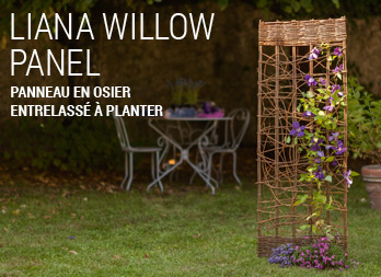 liana willow panel panneau en osier entrelass planter nortene. Black Bedroom Furniture Sets. Home Design Ideas