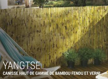 yangtse canisse haut de gamme de bambou fendu et verni. Black Bedroom Furniture Sets. Home Design Ideas