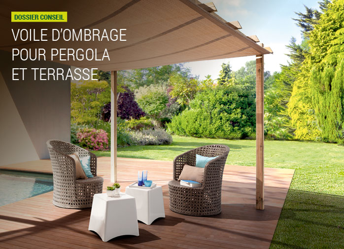 voile d ombrage pour pergola et terrasse nortene. Black Bedroom Furniture Sets. Home Design Ideas