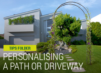 Personalising a path or driveway