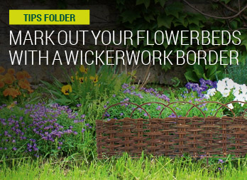 Mark out your flowerbeds