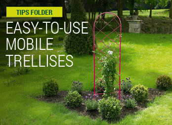 Easy-to-use mobile trellises
