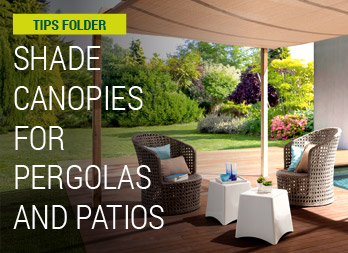 Shade canopies for pergolas and patios