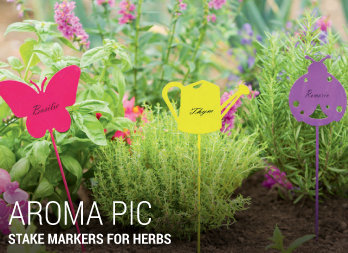 Stake markers for herbs