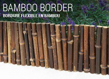 Bordure flexible en bambou