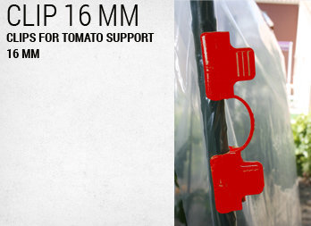 Clips for tomato support 16 mm
