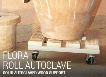 Solid autoclaved wood support