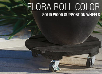Solid wood support on wheels