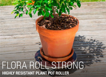 Highly resistant plant pot roller