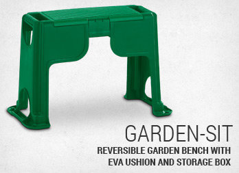 Reversible garden bench with EVA ushion and storage box.