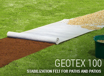 Stabilization felt for paths and patios