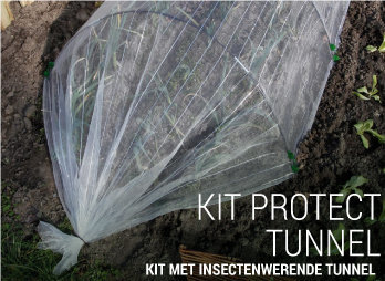 Kit met insectenwerende tunnel