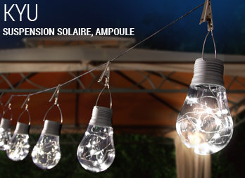 Suspension solaire, ampoule