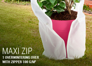 1 overwintering over with zipper 100 g/m².