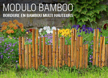 Bordure en bambou naturel multi hauteurs