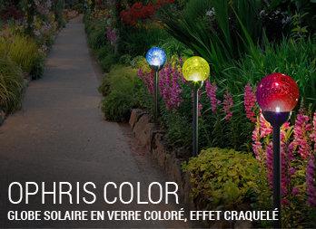 2x énergie solaire craquelée Globe Suspendus Lanternes de Jardin Extérieur Bordure Lights