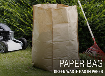Green waste bag in paper