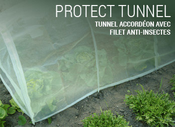 Tunnel accordéon avec filet anti-insectes