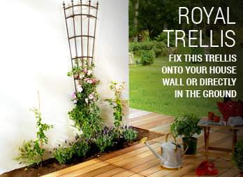 Fix this trellis onto your house wall or directly in the ground