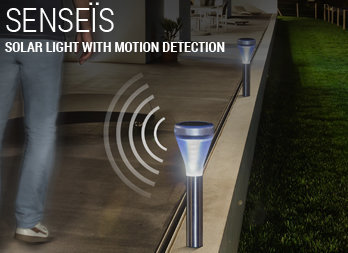 Solar light with motion detection