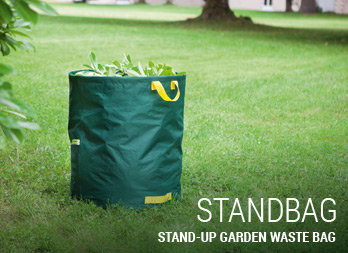 Stand-up garden waste bag