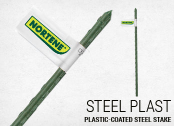 Plastic-coated steel stake