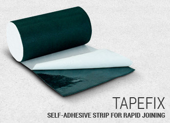 Self-adhesive strip for rapid joining.