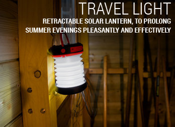 Retractable solar lantern, to prolong summer evenings pleasantly and effectively
