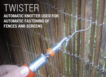 Automatic knotter used for  fix fences and screens