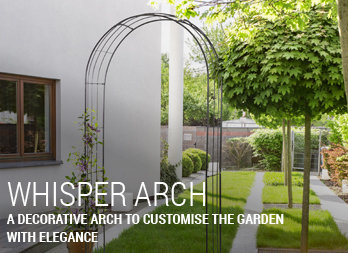 A decorative arch to customise the garden with elegance