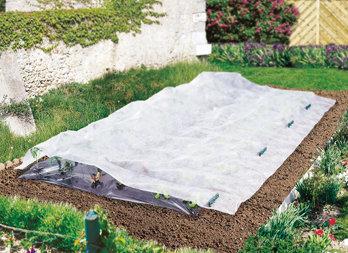 Voile d/'hivernage 2x5 m pour protection plantes arbustes abres massif cultures
