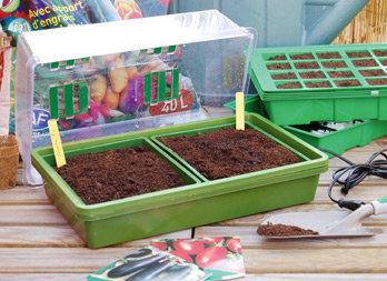 Mini serre chauffante pour semis - Nortene