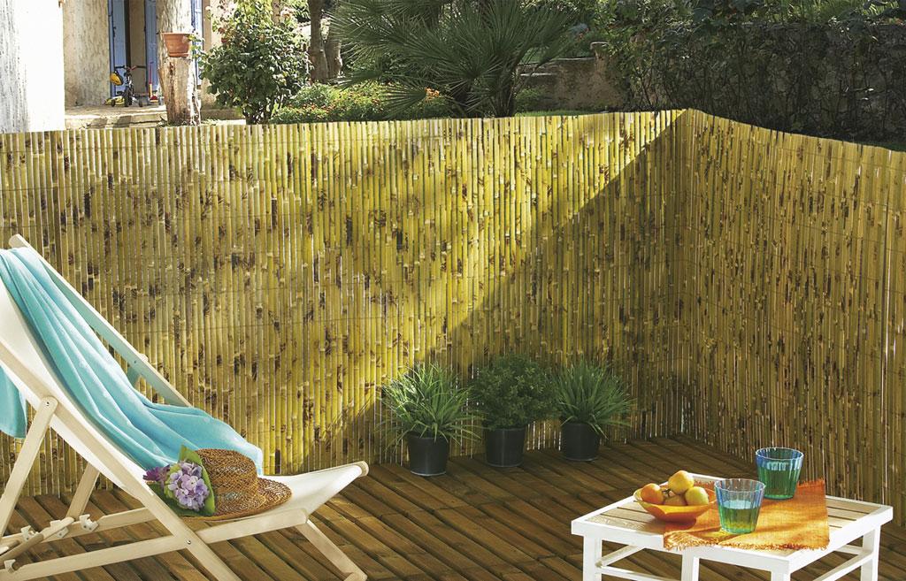 canisse haut de gamme de bambou fendu et verni nortene. Black Bedroom Furniture Sets. Home Design Ideas