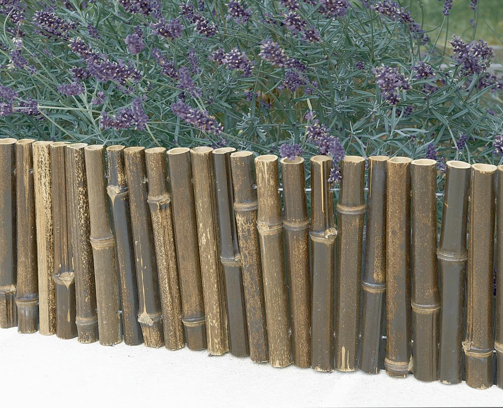Contour De Balcon En Bambou bordure flexible en bambou - nortene