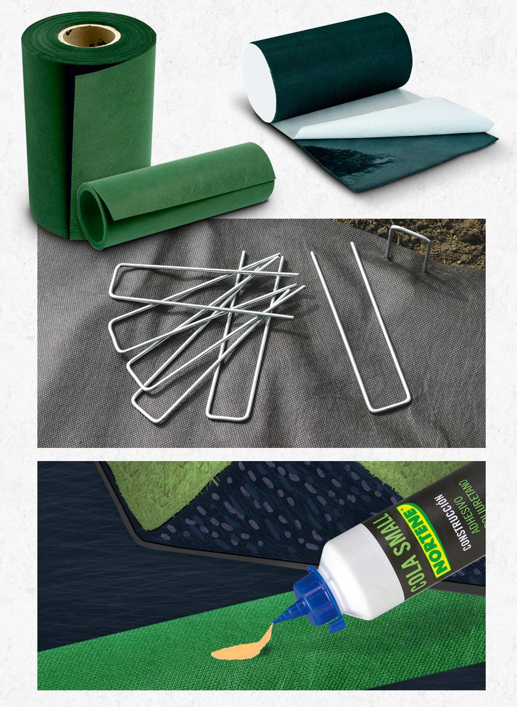 accessoires n cessaires la pose du gazon artificiel nort ne nortene. Black Bedroom Furniture Sets. Home Design Ideas
