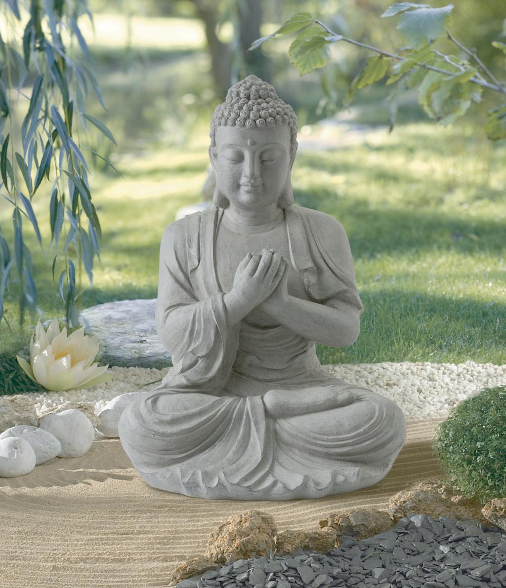 Statue en fibre de verre et argile nortene for Decoration exterieur bouddha