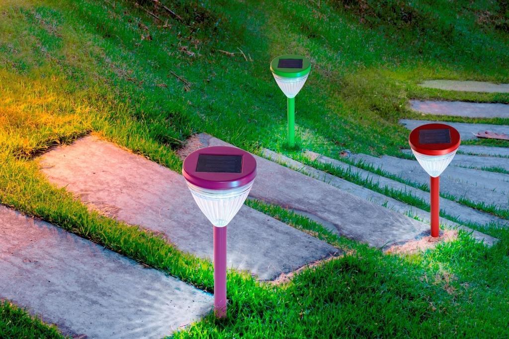 Balise solaire à planter, éclairage rayonnant - Nortene