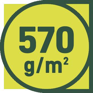 570 g/m2