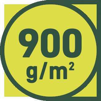 900 g/m2