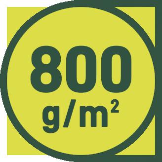 800 g/m2