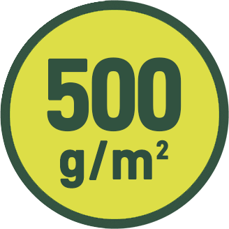 500 g/m2