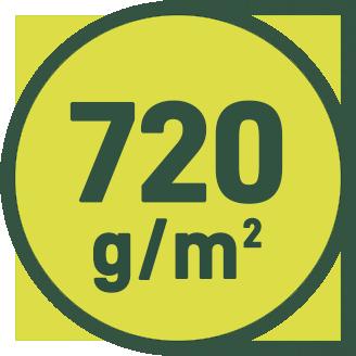 720 g/m2