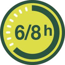 6/8 h duración batería