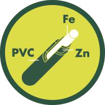 Hierro + Zinc + PVC
