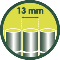 13 mm Tamaño de las lamas