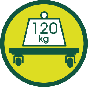 SOPORTA HASTA 120 kg